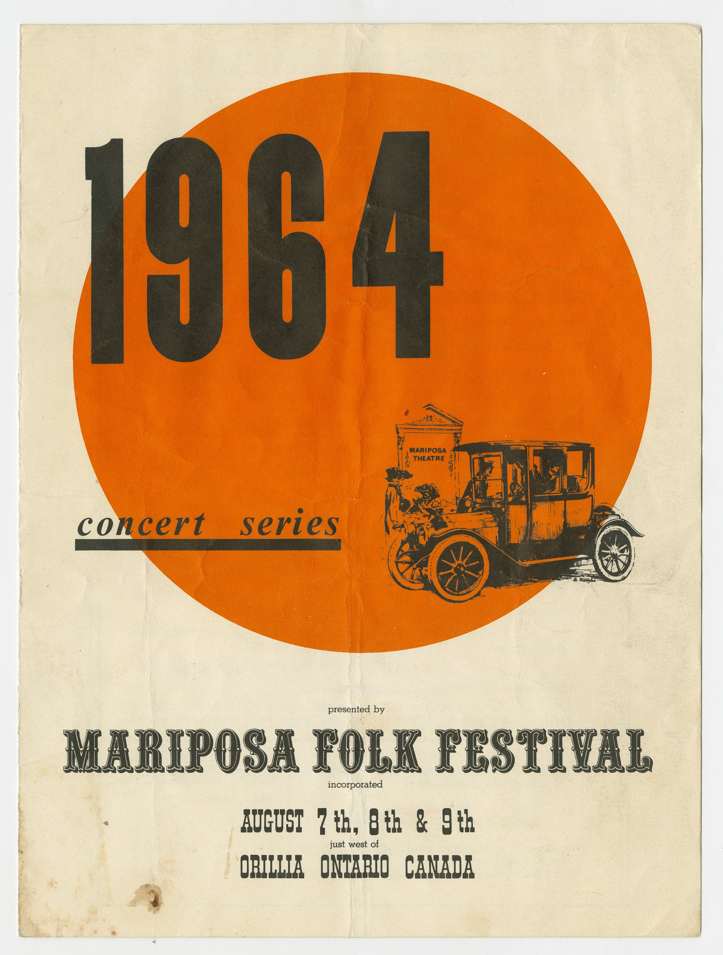 Mariposa Folk Festival 1964 program