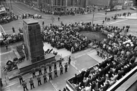 Armistice Day : City Cenotaph Service : Used Negs. Nicked Twice