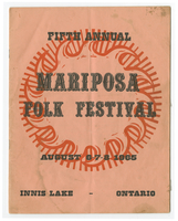 Mariposa Folk Festival 1965 program