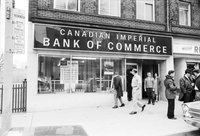 [Canadian Imperial Bank of Commerce (CIBC)] : Sherbourne and Dundas : Dentist shot trying to prevent robbery [not used]