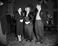 Lady Eaton : with son J. David and wife at reception for Pres. [Vincent] Auriol