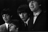 Image of The Beatles from left to right: Paul McCartney, Ringo Starr, George Harrison and John Lennon