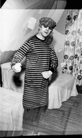 Beatles:  John Lennon wearing pyjamas